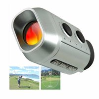 Wholesale Monocular Laser Range Finder - 7x18 Electronic Golf Laser Rangefinder Monocular Digital 7X Golf Scope 930 Yards Distance Meter Range Finder Training Aids