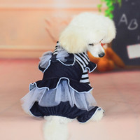 Wholesale Dog Jeans Skirt - Dog Supplies Autumn Pet clothes cotton Jeans pants skirt Dog Apparel free shipping
