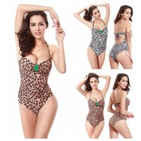 Donne Costume intero 2016 Hot zebra e leopardo Swimwear Body Beachwear costume da bagno triangolo inferiore Backless Monokini Dress