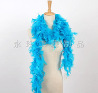 Wholesale Sexy Teacher Costumes - 2017 Wholesale Feather Wedding Decorations 2m Long Boa Fluffy Craft Costume Feather Plume Centerpiece For Wedding Party Decoration YM53