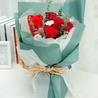 Wholesale Specialty Papers - Korean Flower Waterproof Wrapping Paper Packaging Gift Wrapping Solid Color Florist Wrapping Paper Flower Bouquet Supplies 20pcs