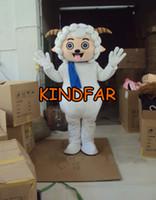 Wholesale Lamb Mascot Costume Sheep - Wholesale-Pleasant Goat Mascot Costume Sheep Jumbuck Lamb Adult Size Fancy Dress Cartoon Outfit Suit Free Sh