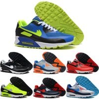 Wholesale Summer Tops Usa - Wholesale 2016 New Cheap Running Shoes Men Air Cushion 90 USA Flag 10 Color Top Quality Max90 Sports Shoes Free Shipping Size 40-45