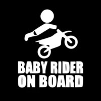Wholesale Dirt Bike Body - 12.8CM*15.2CM Baby Dirtbike Sticker Dirt Bike Motocross Stunts Motorcycle Paddles Car Stickers And Decals Black Sliver C8-1356