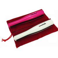 Wholesale Small Battery Usb - 2016 USB Power Hair Straightener Cordless Hair Straightener Mini Rechargeable Straightener Travel Flat Iron Small Pocket Hair Curler