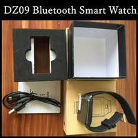 Wholesale W8 Phones - DZ09 Smart Watch Bluetooth Smartwatch Wrist Watches Phone Support SIM Card Sport Wristwatch VS U8 GT08 GV18 A1 W8 GT88 Apple Watch Fitbit