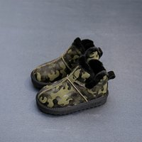 Wholesale Cool Shoes For Girls - 2017 New Arrival Children Winter Shoes For Girl And Boy Kids Shoe Fashion Anti Skid Ankle Cool And High Quality Snow Boots Camouflage Green