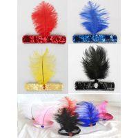 Wholesale Wholesale Price Sequin Dress - Wholesale-Factory Price! Fancy Dress Sequin Head Band Feather Flapper Headdress 1920's Dance Party