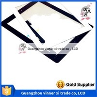 Wholesale Ipad Glue - Tablet Touch Panel For ipad 3 Touch Screen Digitizer Assembly for iPad3 Front Glass with Home button & 3M Glue White Black Color