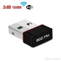 1Pcs mini adattatore USB WiFi 802.11 b / g / n Wi-Fi Dongle 150Mbps carta della rete wireless LAN per computer di PC Accessories Receiver