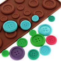 ingrosso sapone di forma cute-simpatico bottone Forma Stampo in silicone Gelatina \ Sapone \ Stampo in cioccolato, cottura fai da te Torta Strumenti di decorazione accessori da cucina Bakeware