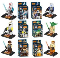Wholesale Star Wars Legoland - New Arrival 6 style Star Wars Yoda Sith Trooper Admiral Ackbar Building Blocks Minifigure Legoland Model DIY Bricks Toys