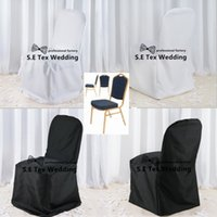 50pcs Preço de atacado 100% Poly Banquet Chair Cover \ Cheap Wedding Chair Cover Free To Door Shipping