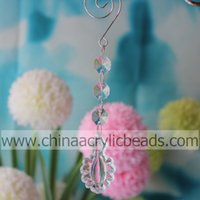 Wholesale Christmas Cakes Candles - 50PCS Wedding Event Decoration crystal drop chandelier Beaded Drop Ornament