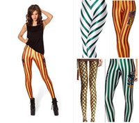 2016 sexy hot donne collant leggings 3d stampa digitale pelle leggings a righe gialle stella nero latte sport all'aria aperta pantaloni 30
