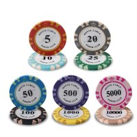 Crown Classic Poker Chips 14g Clay / Iron / ABS Casino Chips 14 colori Poker Texas Hold'em Poker Chip del Club di Poker all'ingrosso