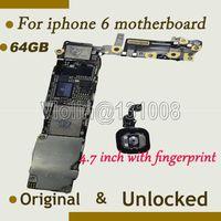 Wholesale Iphone Motherboard Logic Board - Wholesale-For Iphone 6 4.7inch Motherboard With fingerprint 64GB Original Unlocked , mainboard with full chips logic board