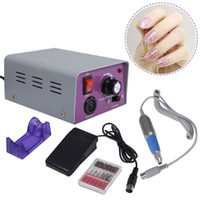 Wholesale Cheap Wholesale Art - Factory Price!!! Cheap Nail Drill Complete Electric Nail Drill Kit Set Art File Bit Acrylic Manicure Drill 30000RPM DHL