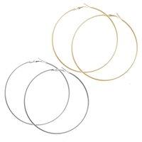 Wholesale Huge Studs - New fashion jewelry huge hoop earring set diameter 70MM gift for women girl