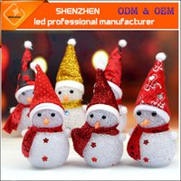 Wholesale Christmas Gift Snowman Colorful Night - Colorful light flash snowman Christmas gift Small night light rice crystal Christmas snowman nightlight The Christmas Decoration