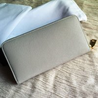 Wholesale Excellent Fashion waterproof canvas and genuine leather zippy wallet