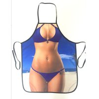 Wholesale Sexy Waiter - Sexy Apron Sexy Kitchen Aprons for Women Man Funny Naked Party Bar Aprons Cooking Apron Waiter Cooking Tools