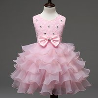 Wholesale Wholesale Ball Gown Prom Dresses - Baby Dresses Girls Kids Evening Prom Wedding Gown Little Girls Party Dresses First Birthday Outfits Children Girl Events Wear