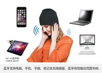 Wholesale Apple Hats Wholesale - NEW Soft Warm Beanie Bluetooth Music Hat Cap with Stereo Headphone Headset Speaker Wireless support for apple samsung ipad ipod 7 6s plus