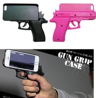 """Wholesale Wholesale Gun Cases - New COOL 3D GUN Case Cell Phone capas para Foriphone 7 Plus 7 6s 4.7"""" 6 plus SE 5S Plastic hand gun Pistol Shape hard PC case"""