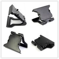 suporte para grampo de montagem venda por atacado-Chegam novas tv clip braçadeira mount stand holder para microsoft xbox 360 kinect sensor mini suporte ajustável para sensores de movimento