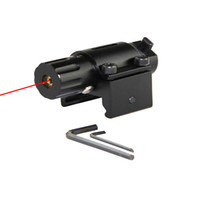 ingrosso vista laser rosso pistola-Tactical Hunting Super Mini Red Dot Laser Sight per pistola pistola con 20 millimetri Rail