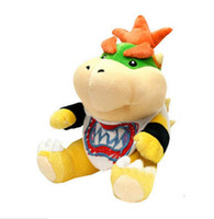 Wholesale Super Mario Bros Stuffed Animals - 18cm Super Mario Bros Bowser JR Plush Soft Stuffed Animals Doll Toy for Kids Girls Boys Birthday Gift Free Shipping Xmas Gift