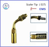 Wholesale Ems Compatible Ultrasonic Scaler Tips - easyinsmile E1T Golden Ultrasonic Scaler Endo File Holder Tip 120 Degree chuck compatible with EMS Woodpecker