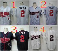Wholesale Span Men - Mix Order.Stitched Baseball Jerseys Minnesota Twins #2 Denard Span White Gray Cream Blue Cheap Home Road MLB Jersey Brian Dozier