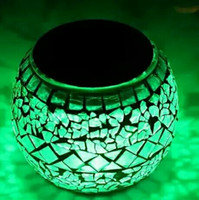 Wholesale Solar Powered Balcony Lights - Creative Solar Powered Mosaic Glass Ball Garden Lights Bedroom Balcony,Solar Outdoor Lights for Parties Decorations