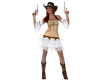 Wholesale Sexy Cowboys Clothing - Wholesale-Wholesale -2016 Hot Sale New Fashion Sexy Style Carnival Costume Cosplay Party Clothing for Women knitted cowboy costumes skirt