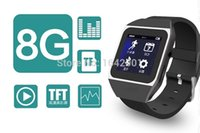 """Wholesale Bluetooth Watch Mp4 Player - New products 8GB smart Watch Bluetooth MP4 MP3 Music player with 1.5"""" Touch Screen Support Bluetooth FM Pedo Meter World Clock Function"""