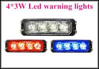 Wholesale Emergency Car Strobe Lights - High intensity 4*3W Car truck external emergency lights,surface mounting lightheads,Strobe warning light,waterproof