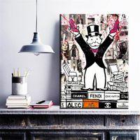 kings fashion fotografías al por mayor-ZZ272 Alec Monopoly fashion King Impresión en lienzo artístico para arte de pared Pintura Imagen Decoración del hogar Sin marco Muchas de las imágenes disponibles