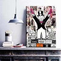 décoration murale d'art en toile achat en gros de-ZZ272 Alec Monopoly mode King Art Print Toile pour Wall Art Peinture Image Décoration de la Maison Sans Cadre Beaucoup des Images Disponibles