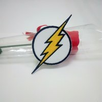 Wholesale Flash Badges - SUPERHERO FLASH DC COMICS EMBROIDERY IRON ON PATCH BADGE