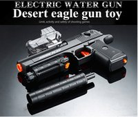 Wholesale Desert Eagle Model - New toy gun Desert Eagle electric water bullet for adult or children can shoot water bullet free fast shipping