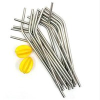 Wholesale Wholesale Xmas Picks - New 3pcs Stainless Steel Drinking Straw Reusable Washable for Bar Xmas Party SG