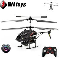 Wholesale Ch Toy - Wltoys 3.5 CH Radio Remote Control Helicopter Metal Gyro RC Quadcopter With Camera Electronic Toy Professional Mini Drones