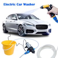 Wholesale 12v High Pressure Washer - High Pressure Electric Car Wash Washer Water Pump 12V Car Washer Washing Machine Cigarette Lighter EXPRESS Shipping