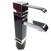 Wholesale Long Basin Tap - Wholesale- Bathroom Sink Basin Mixer Tap Chrome Swivel With Long Arm Rotate Brass Faucet Basin Mixer Tap With Hot And Cold Water