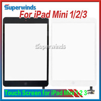 Wholesale Ipad Mini Touch Panel - For ipad mini 1 2 3 Outside Touch Screen Digitizer with Home Button + IC Connector Touch Panel Replacement Assembly Free shipping DHL