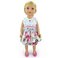Wholesale Wholesaler For Baby Apparel - Girl Dolls Apparel fashion Kids mini dolls cloth set Baby girls toys fit for 18inches flower dress with shorts set
