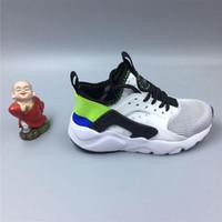 ingrosso scarpe da ginnastica per bambini-Alta qualità per bambini Racers Air Huarache Sneakers Scarpe per ragazzi Grils Authentic All Children's Trainer Huaraches Sport Running Shoes Size 28-