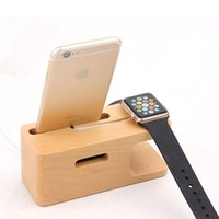 Wholesale Quality Wholesale Watches For Sale - Hot Sale Wood Charging Stand Bracket Docking Charge Station for iphone 6 6 plus 5S and Apple Watch iwatch 38mm 42mm High Quality